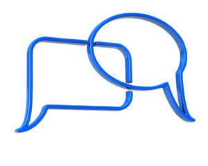 Blue speech bubbles icon