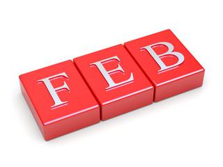 February calendar header symbol