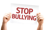 Stop Bullying card isolated on white background poster