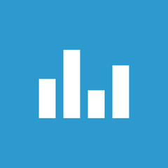 equalizer icon, isolated, white on the blue background.