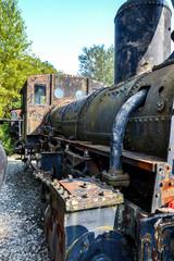 Historic Austrian steam engine in Wien museum