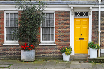 Yellow door home