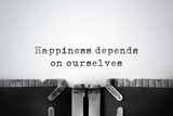 Perspectives. Inspirational quote typed on an old typewriter.