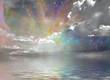 Leinwanddruck Bild - Quiet Waters and Starry Sky