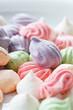 Pastel colored meringue