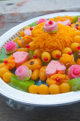Thai traditional dessert which usually use in Thai wedding