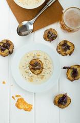 Creamy onion - garlic soup