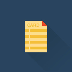 vector flat library card icon