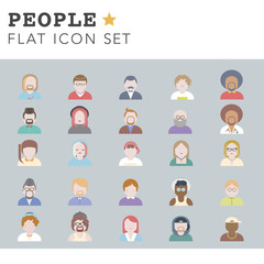 People Diversity Portrait Characters Avatar Vector Concept