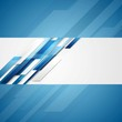 Blue shiny hi-tech flyer vector background