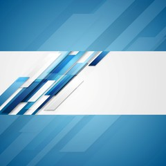Blue shiny hi-tech flyer vector background