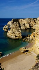 Algarve Strand Marinha vid 10 vertik