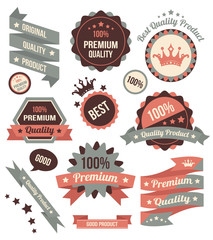 Vector Colorful Stickers Labels and Badges Set