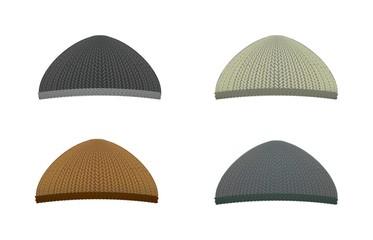 Knitted woolen cap. Winter seasonal hat.