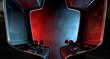 Leinwanddruck Bild - Arcade Machine Opposing Duel