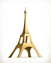Eiffel Tower, vector icon