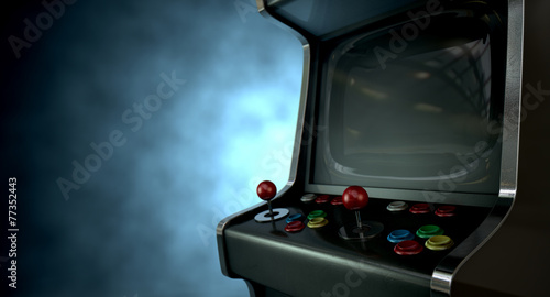 Leinwanddruck Bild Arcade Machine Dramatic View
