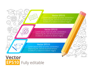 Education vector infographic banner