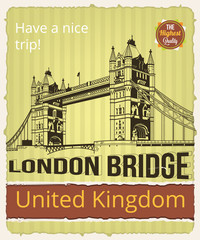 London vector banner