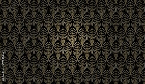 Leinwandbild Motiv Art Deco Wall