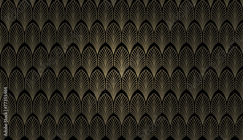 Leinwanddruck Bild Art Deco Wall