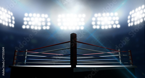 canvas print picture Boxing Ring In Arena