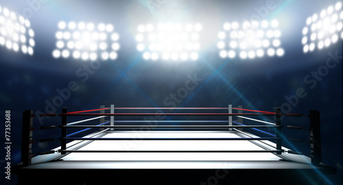 Boxing Ring In Arena poster