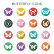butterfly long shadow icons