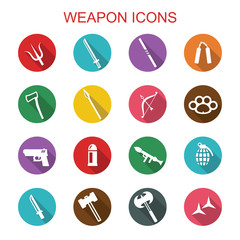 weapon long shadow icons