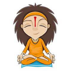 Vector illustration. Yoga.