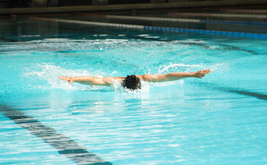 Butterfly stroke swimming