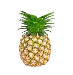 Fresh tasty pineapple isolated on white backgound