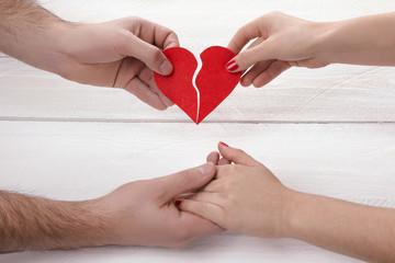 heart in hands. Valentine's Day