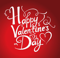 Holiday greeting card. Happy Valentine's Day