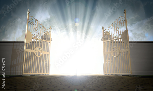 Leinwandbild Motiv Heavens Gates Opening