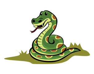 Snake Illustration Cartoon