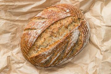 close up of sourdough loaf