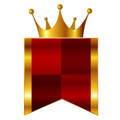 王冠 フレーム 金