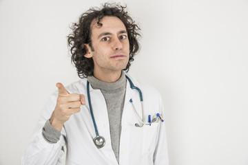 dottore che rimprovera