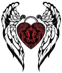 Angel wings.Love tattoo