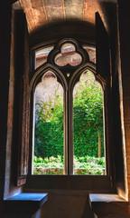 A window in Chillon castle in  Switzerland