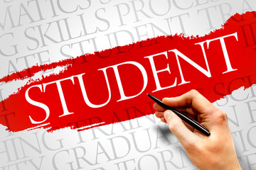 STUDENT word cloud, education business concept