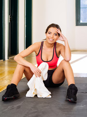 Resting after workout