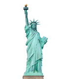 Statue of Liberty isolated on white background - 77363285