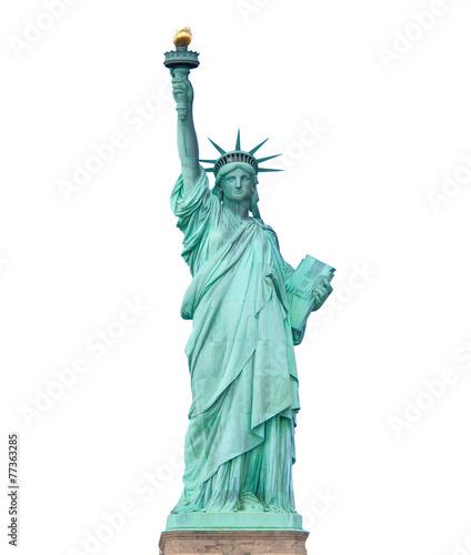 Leinwandbild Motiv Statue of Liberty isolated on white background