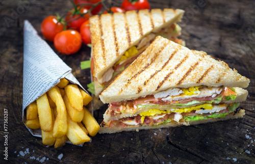 Foto op Aluminium Snack Classic Club Sandwich