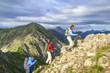 Wanderung in steilem Gelände