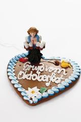 Bayerische Kellnerin Figur holding Steinkrug stehen