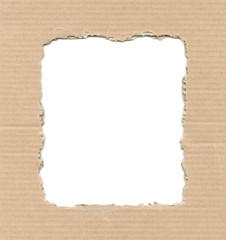 Frame from corrugate cardboard