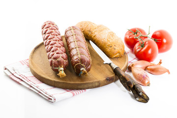 Brettljause - Salami, Tomaten, Ciabatta, Studio